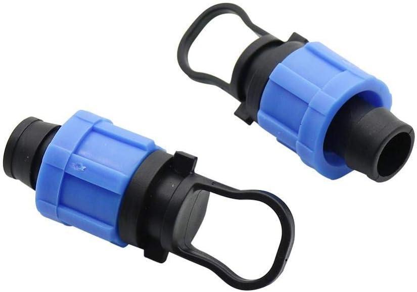 WEIZI 40 Pcs 16mm Drip Tape Locked Straight Three Way End Plug Connectors 1/2
