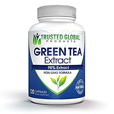 Green Tea Extract Supplement with EGCG by Trusted Global Products- Boost Metabolism & Promote a Healthy Heart While Loosing Weight Naturally- Natural Caffeine for gentle energy - Antioxidant Rich