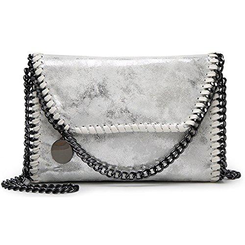 9d6842c929ab stella mccartney falabella. Donalworld Women Chain Paillette Large Casual  Tote PU Leather Shoulder Bag S Sbk7
