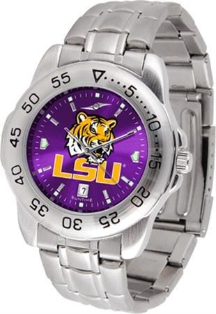 Tigers State Steel Watch Sport (LSU Tigers Sport Steel AnoChrome Men's Watch)