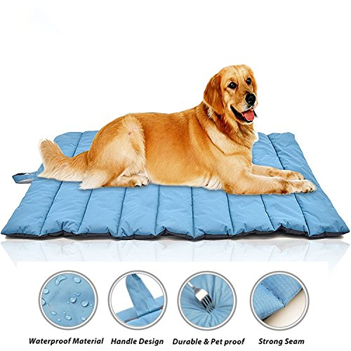 Gowild Oversize Cool Pets Bed Mat Waterproof Outdoor Travel Dog Mats Indoor Bed Mats for Large Dog ()