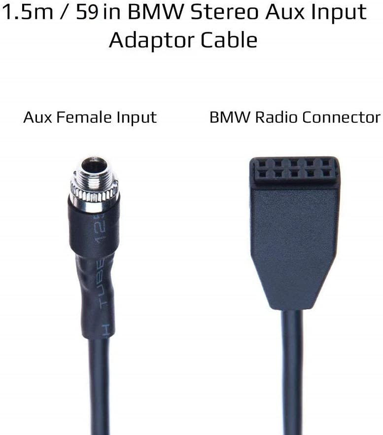 2019 Upgraded Version Aux Audio Cable for BMW E46 Cable Female Jack 3.5mm Aux Auxiliary Input Adaptor CD Player Cord MP3 for BMW E46325i 325ci 325xi 330i 330ci 330xi M3 Female Jack+4.9ft