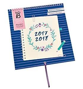 Calendario escolar 2017-18 Busy B de 13 meses con