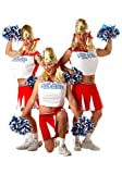 California Costumes Men's Varsity Cheerleader,Red/White,One Size Costume