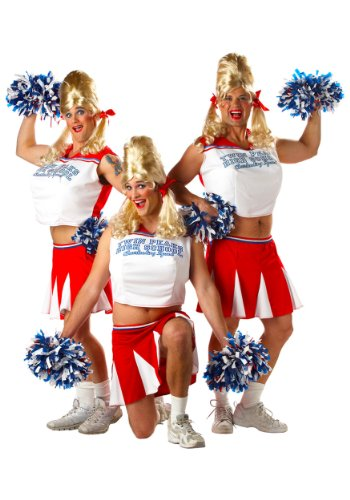 California Costumes Men's Varsity Cheerleader,Red/White,One Size Costume -