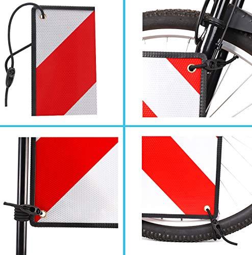 51n4Pi mYPL PLANGER Gepäckspanner für Warntafel Italien und Spanien (4X 50cm) Befestigung Schild Fahrrad Fahrradträger I Spanngurte…