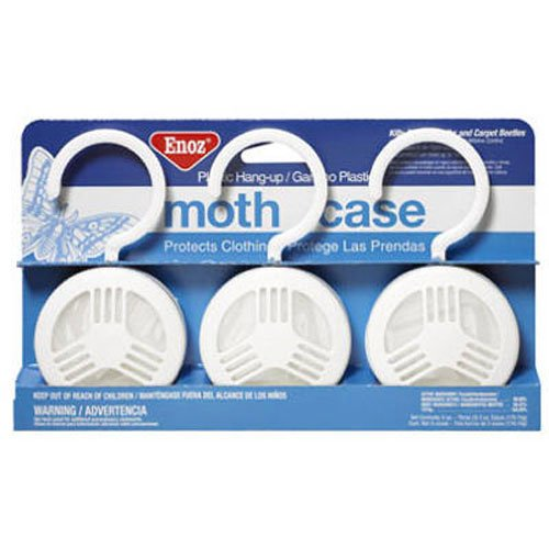 Willert Home Products Enoz Moth Cake with Hanger, (3 Pack)