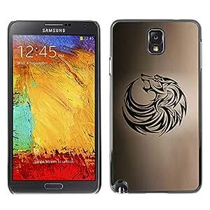 Caucho caso de Shell duro de la cubierta de accesorios de protección BY RAYDREAMMM - Samsung Galaxy Note 3 N9000 N9002 N9005 - Tattoo Ink Black Brown Hound