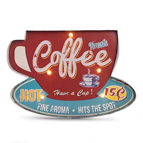 Bey Berk Coffee Metal Sign, LED-Lighted