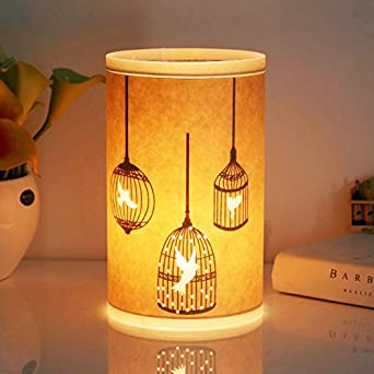 Table Lamp, HQOON Beside Desk Lamp, Minimalist Nightstand Lamps For  Bedroom, Beautiful Hand