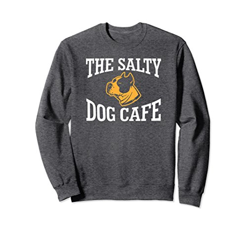Unisex The Salty Dog Cafe Funny Gift Animal Dog T-shirt 2XL Dark Heather (T-shirts Salty Dog)
