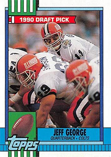 Jeff George Football Card Illinois Fighting Illini 1990