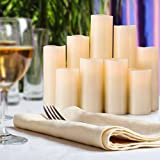 RY King Battery Operated Flameless Candle Set of 9