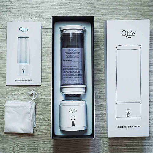 SPE/PEM Hydrogen Water Generator Q-Cup, EDC Cleaning by Qlife