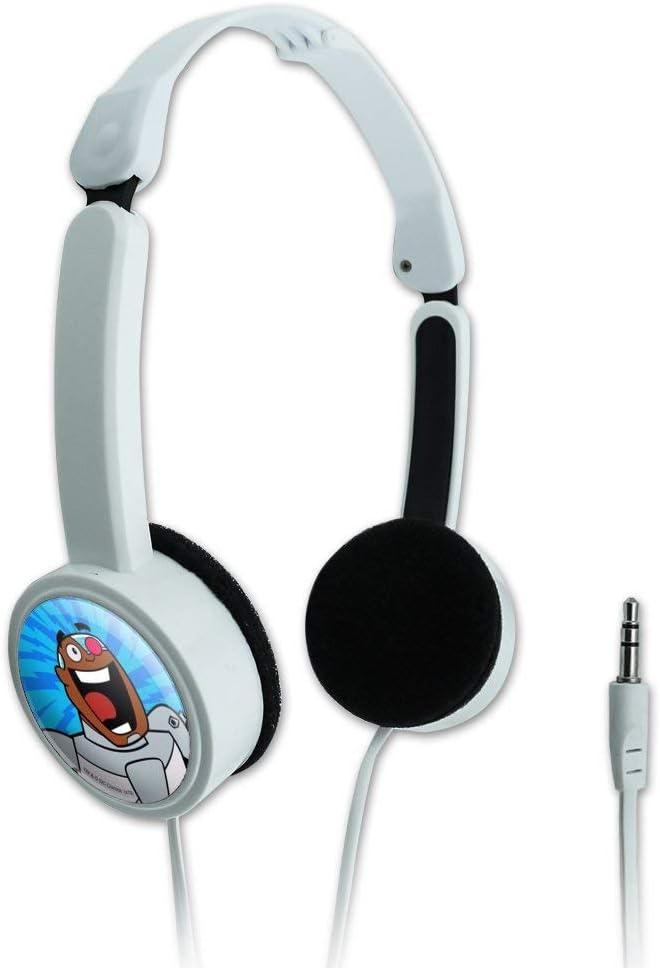 GRAPHICS & MORE Teen Titans Go! Cyborg Novelty Travel Portable On-Ear Foldable Headphones