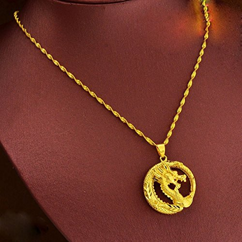 Cs Db 24k Gold Real Yellow Gold Filled Smart Dragon