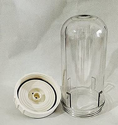 Hexagon Alkaline Water Filtration System 2 Replacement Cartridge 1's Plastic Cylinder Case and Lid