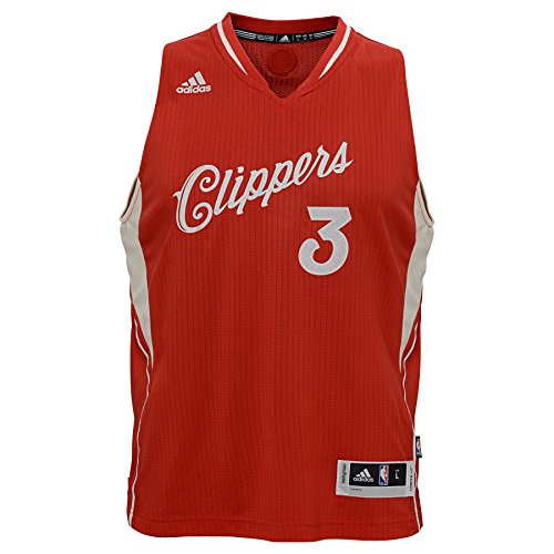 Replica T-shirt Player Jersey (NBA Youth Boys 8-20 Clippers Paul X-Mas Day Replica Jersey-Red-L(14-16))