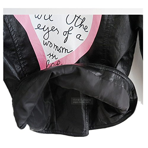 7a4d8a62205e Jual LJYH Girls Leather Motorcycle Jacket Children s PU Love Coat ...
