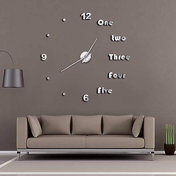 LLLYZZ DIY Gran Reloj De Pared Moderno Arte De La Pared Decoración para El Hogar De