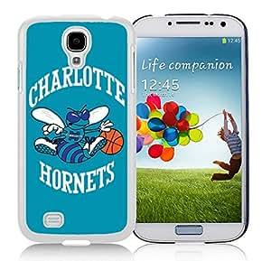 New Custom Design Cover Case For Samsung Galaxy S4 I9500 i337 M919 i545 r970 l720 Charlotte Hornets 2 White Phone Case