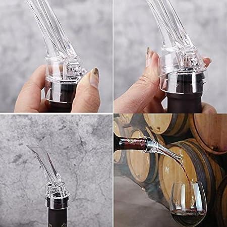 Decantador de Vino y Aireador para Botella, Vertedor Rapido Profesional de Calidad | Oxidante de Vino Tinto, Decantadores Pourer | Accesorios Bar, Regalo Mujer Hombre, Wine Aireador de Vino Tinto