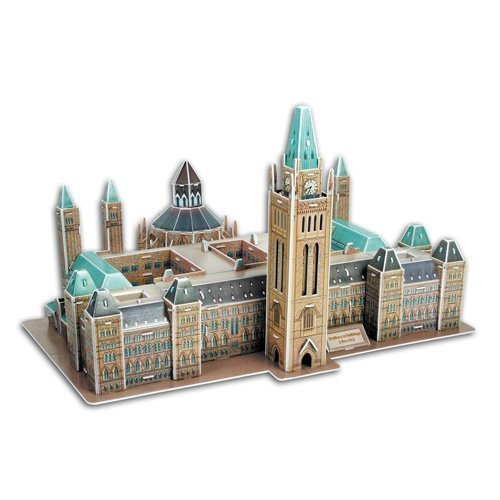 Parliament Buildings of Canada in Ottawa, Ontario, 162 piece 3D jigsaw puzzle made by CubicFun MC144H