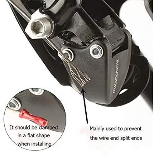 Liroyal 10PC Casquillo de extremo de la bicicleta Manga de extremo para el cable de freno Cable de cambio Cable de freno Cable de cambio Repuesto Accesorios