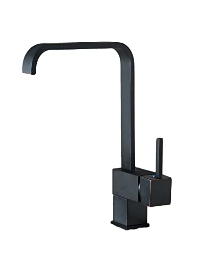Aquafaucet Square Swivel Waterfall Tall Kitchen Sink Vessel Faucet Orb Oil Rubbed Bronze