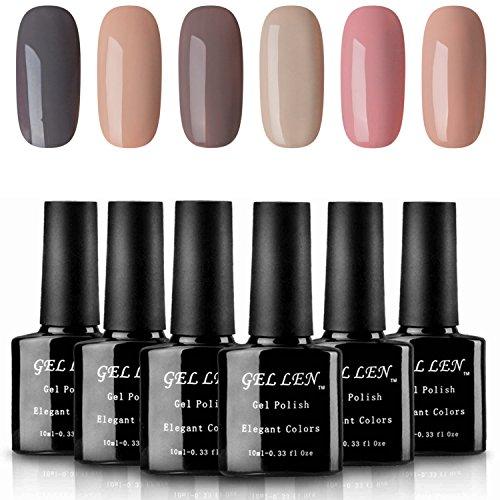 Gellen Classic Nude Gel Nail Polish - UV LED Nail Gel Set, P