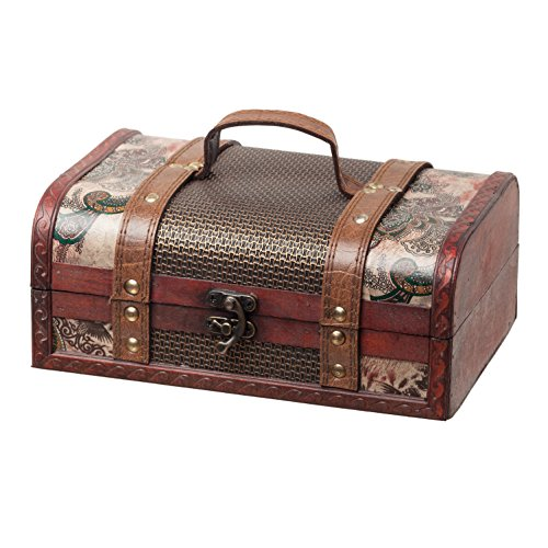 SLPR Treasure Decorative Box | Jewelry Old-Fashioned Antique Vintage Style for Birthday Parties Wedding Decoration Displays Crafts Photo shoots