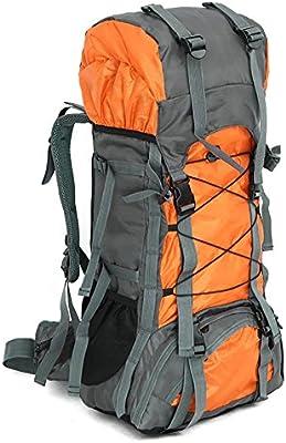 60L Nylon Senderismo Bolsa de Hombres y Mujeres Mochila Al Aire Libre Bolsas de Alpinismo de Gran Capacidad Mochila de Viaje Senderismo Mochilas , orange