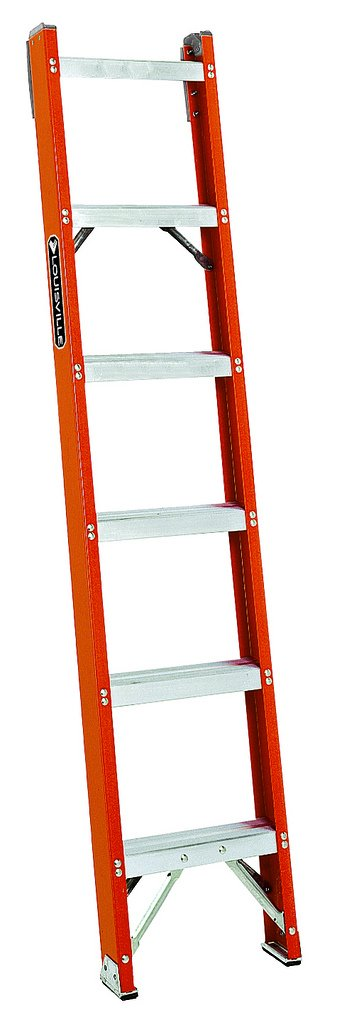 Louisville Ladder FH1006 300-Pound Duty Rating Fiberglass Shelf Ladder, 6-Foot by Louisville Ladder