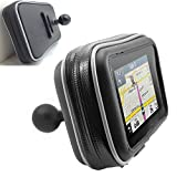 ChargerCity XXL Water Resistant 5'' GPS Case for Garmin Nuvi Drive DriveSmart 50 51 52 54 55 56 57 58 2597 2595 2599 LM LMT TomTom XL 3xx XXL 5xx GO VIA Start GPS w/ 1'' male ball connection