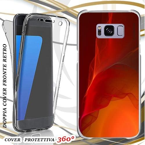 Custodia Cover Case Red Wallpaper Per Samsung Galaxy S8 Front Back Amazon Co Uk Electronics