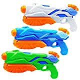 MOZOOSON 3X Water Gun for Kids Toys Super Soaker Squirt Guns for Kids Adults, Summer Water Blaster Toy for Swimming Pool Party Outdoor Beach Water Fighting