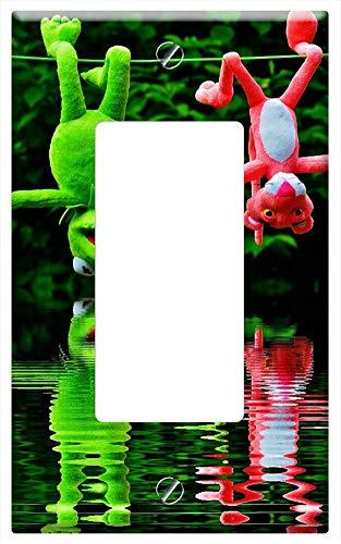 Switch Plate Single Rocker/GFCI - Water Mirroring Hang Out Plush Toys Kermit 3 ()