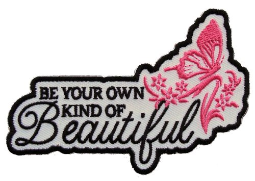 Leather Supreme Your Own Kind Of Beautiful Lady Rider Embroidered Biker Patch- (Biker Vest Jacket)