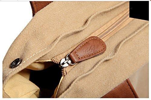 1123 messenger tablet Everdoss Khaki College KHI Fits Marrone Crossbody QSM borsa pc Pack vintage spalla casual tela di Khaki shopping da documento School 60Tgw0Rqfx