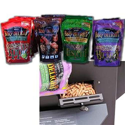 Wood Holland - Holland Grill BHA5050AP Smoke Pellet Assorted Pack (3 Bags Each Flavor) Hickory, Oak, Apple, Mesquite BBQr's Delight