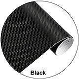Hanbaili Película de vinilo de fibra de carbono con adhesivo de bricolaje de fibra de carbono y etiqueta de bricolaje con eti