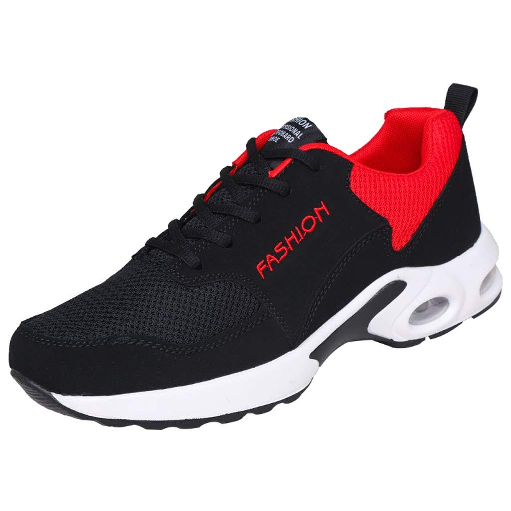Men Women Sport Air Shoes - Couple's Spring Buffer Cushion Lightweight Breathable Mesh Lace-up Casual Running Shoes