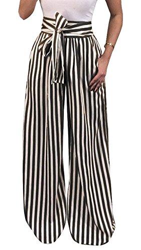 Pantalons Loisirs Vintage Temps Frappé Pantalon Femme Harem Deux Cravate Occasionnels Mode Larges Élégante Printemps Poches Le Noir Franges Moderne Automne SX8ISrq