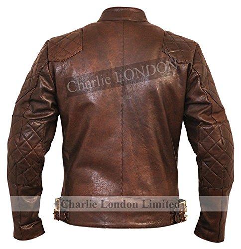 Ltd London Stannard David Vintage Beckham Leather Charlie Brown Real Mens Genuine Jacket IvxfqPwPZn