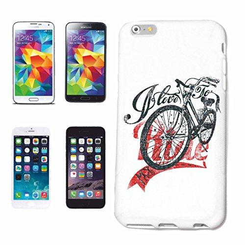 caja del teléfono iPhone 7 Me encanta montar AMO MI BICI CICLISMO Mountain Riders camino de la bicicleta excursión en bicicleta la bici de montaña REPARACIÓN DE CICLO SPORT BIKE TOUR EN BTT CAMISA C