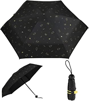 DOENR Compact Travel Umbrella Beach Cat Sun and Rain Auto Open Close Umbrellas Portable Outdoor Folding Umbrella