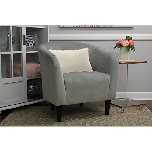 Mainstays Microfiber Tub Accent Chair, Nove Gray