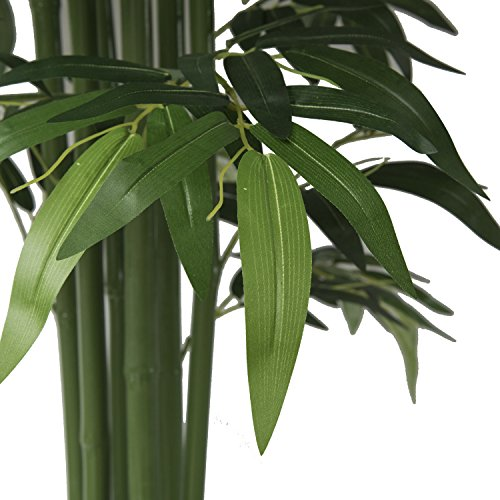 Geling 5.9Ft Potted Artificial Bamboo Tree Plant - Handmade Greenery ...