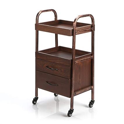 a13b9e449b51 Amazon.com - Serving Wine Cart Caster Wheels, Rolling Metal Solid ...