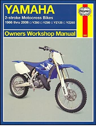 amazon com 1986 2006 yamaha yz80 yz85 yz125 yz250 haynes repair rh amazon com yamaha yz250 owners manual yamaha yz 250 workshop manual